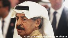 Bahrain Premierminister Khalifa bin Salman Al Khalifa