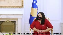 Kosovo amtierende Präsidentin Vjosa Osmani