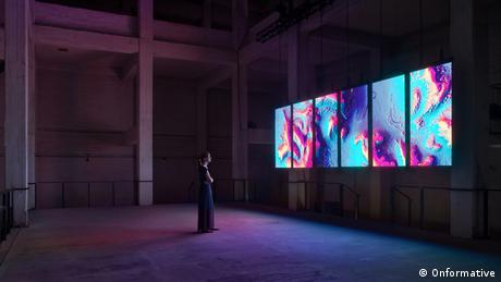 Onformative |Meandering River | Installation, made by AI