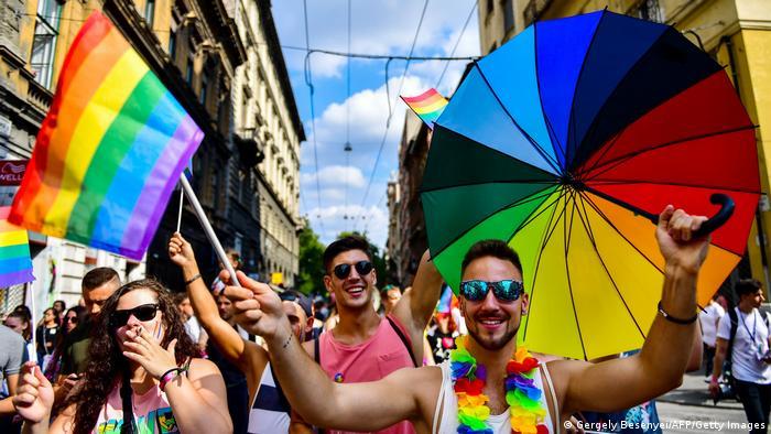 Гей-прайд в Будапеште, июль 2018 года