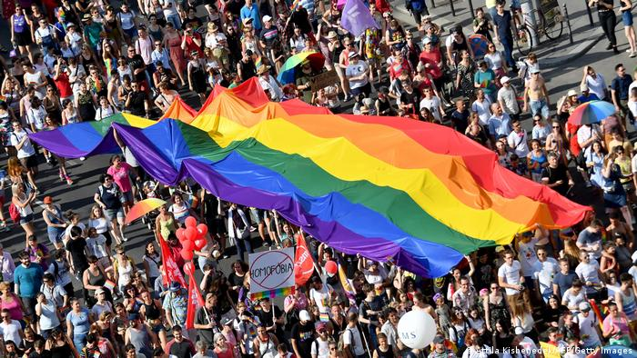 The 2019 Gay Pride march in Budapest