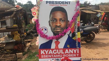 Uganda Kampala | Porträt von Robert Kyagulanyi, Präsidentschaftskandidat