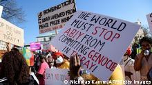 USA, Washington I Protest gegen Genozid in Tigray