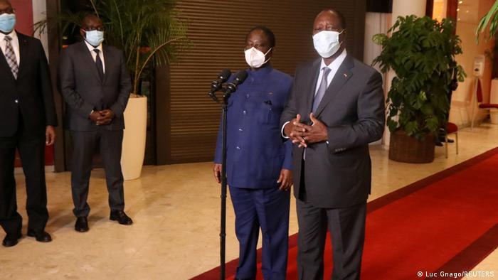President Ouattara and former president Henri Konan Bedie.