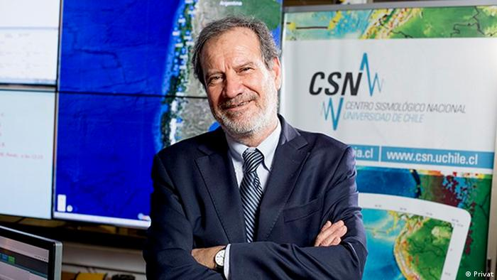 Sergio Barrientos, the Director of the The National Seismological Center of the University of Chile