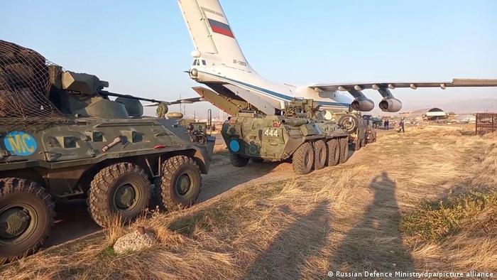 اعزام نیروهای نظامی روسیه به منطقه قرهباغ، یازدهم نوامبر ۲۰۲۰