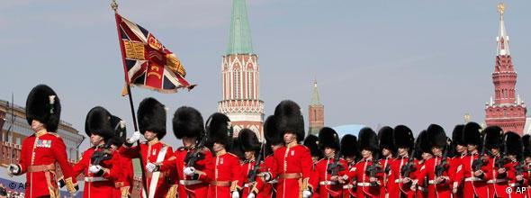 Militärparade in Moskau Russland 65. Jahrestag des Sieges über Hitler-Deutschland NO FLASH