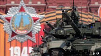 Militärparade in Moskau Russland 65. Jahrestag des Sieges über Hitler-Deutschland