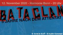BATACLAN Festival logo with the words: Five years since the attacks