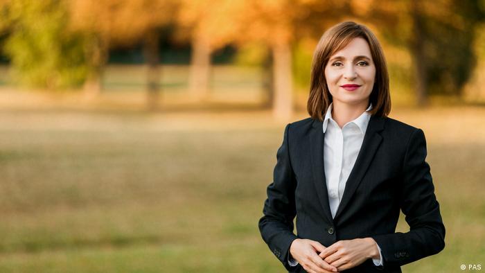 Кандидат в президенты Молдовы, лидер проевропейской партии Действие и солидарность Майя Санду