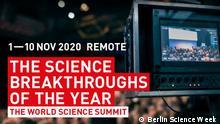 Berlin Science week, Falling walls science breakthroughs of 2020.