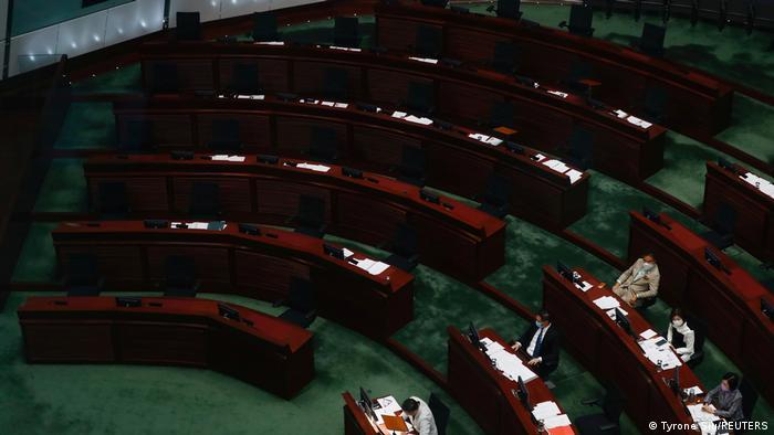 Hongkong Pro-demokratische Abgeordnete Parlament Opposition (Tyrone Siu/REUTERS)
