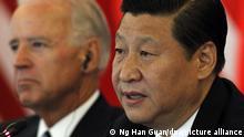 China | Präsident Xi Jinping und Joe Biden