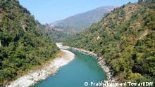 Teesta Fluß, Indien