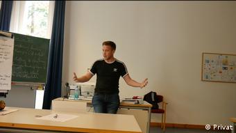Марко Пурруккер выступает с докладом