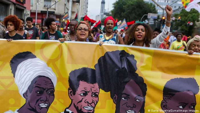 Manifestação em São Paulo no Dia da Consciência Negra em 2019