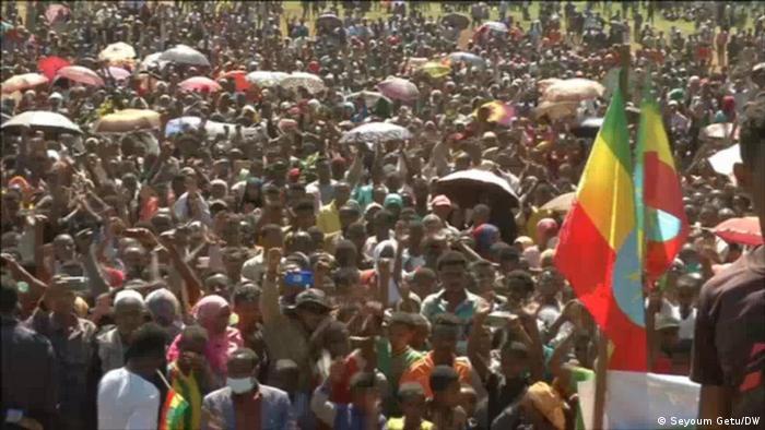 Äthiopien I Demonstration gegen Die Volksbefreiungsfront von Tigray