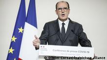 Paris | Premierminister Jean Castex PK Coronamaßnahmen