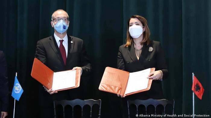 Albanien WHO Unterstützung Coronakrise