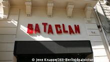 The front entrance of the Bataclan concert hall