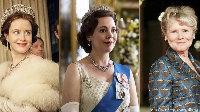 Actresses playing Queen Elizabeth II in the Netflix series The Crown
