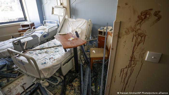 Libanon Coronavirus | Krankenhäuse nach der Explosion