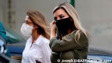 Zwei libanesische Frauen mit Maske