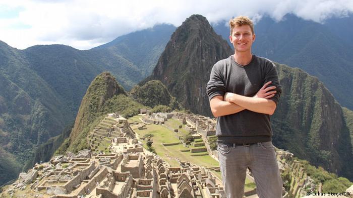 Peru DW-Reporter Lukas Stege on Machu Picchu (Lukas Stege/DW)