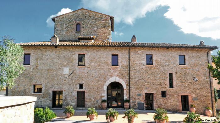 Brunello Cucinelli: The restored company headquarters in Solomeo, Italy
