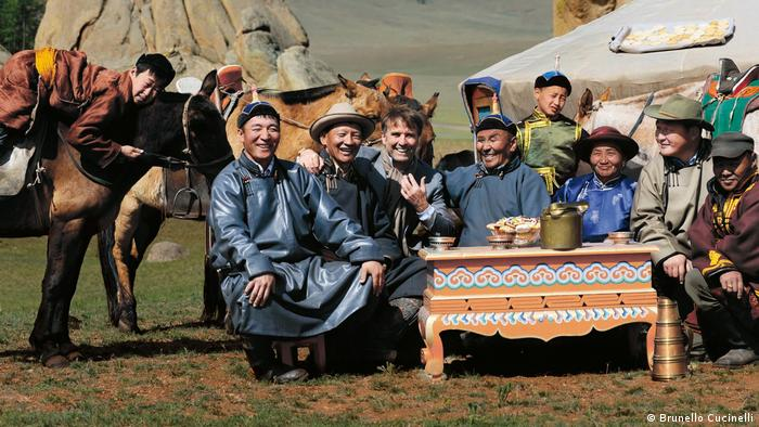Brunello Cucinelli with suppliers in Mongolia