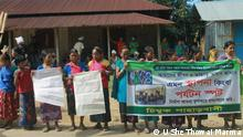 Bangladesh Army along with a private company is planning to build a five star hotel to promote tourism in Bandarban, a exclusive hill area of Bangladesh. But for that project indegineous villagers are being evicted from their homes. People from local tribe Mro are protesting the project. Where: Bandarban, Bangladesh Copyright: U She Thowai Marma