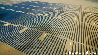 Солнечная электростанция в провинции Цинхай в Китае