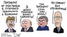 DW-Karikatur von Sergey Elkin - Russland Gegensanktionen