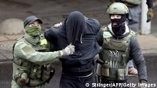 Belarus Minsk   Demonstrationen   Festnahme