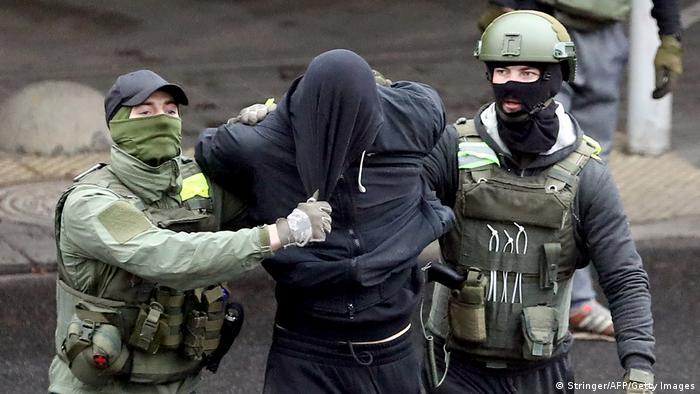 Belarus Minsk | Demonstrationen | Festnahme (Stringer/AFP/Getty Images)