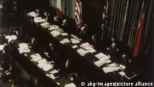 Les juges du tribunal, issus des pays vainqueurs de la guerre