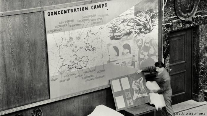 De nombreux documents historiques ont été présentés pendant le procès de Nuremberg