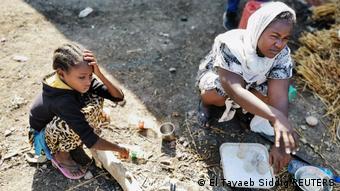 Äthiopien Konflikt Tigray   Grenzstadt Sudan al-Fashqa, Flüchtlinge