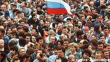 Sowjetunion Russland Putschversuch gegen Gorbatschow 1991 Demonstration