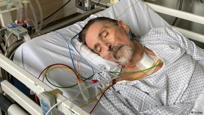 Peter Schmidtgen, pacient cu COVID-19