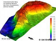 Cordillera submarina captada por el equipo cienífico europeo.