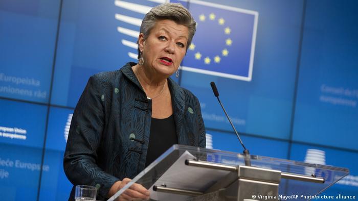 Ylva Johansson, Comisaria de Interior de la UE.