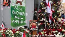 Minsk | Trauerfeier ermordeter Aktivist