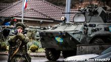 Waffenstillstand Berg-Karabach | Russische Truppen an Checkpoint vor Stepanakert