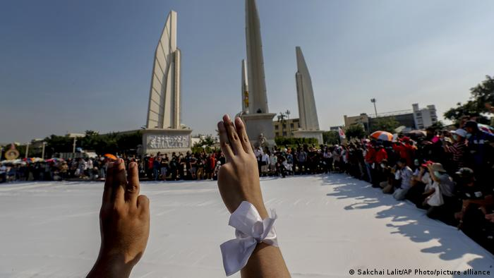 Pro-democracy protesters gather in Bangkok
