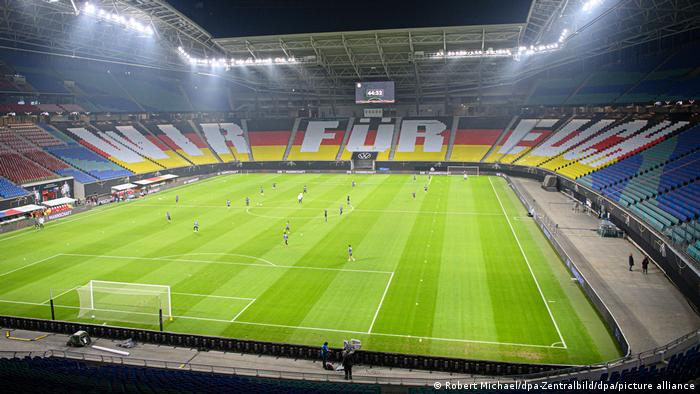 The Red Bull Arena with Germany colors