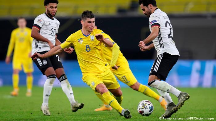 Збірна України під час матчу проти збірної Німеччини у Лізі націй, 14 листопада 2020 року