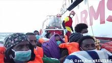 Italien Sizilien, Trapani |Open Arms |Rettungsaktion Flüchtlinge