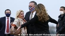 Frankreich Paris | Jamie McCourt & Mike Pompeo, US-Außenminister