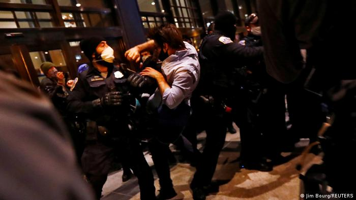 Clashes at a pro-Trump rally in Washington D.C.